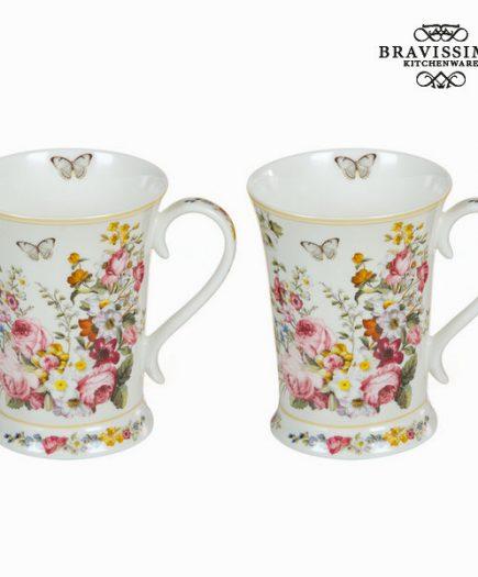 xekios Lot de 2 tasses bloom white - Collection Kitchen's Deco by Bravissima Kitchen