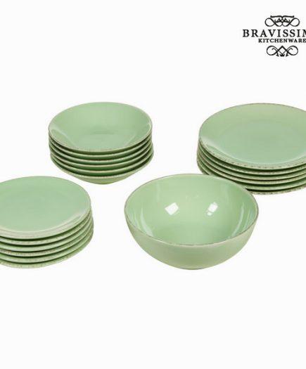 xekios Assietes Vaisselle Vert (19 pcs) - Collection Kitchen's Deco by Bravissima Kitchen