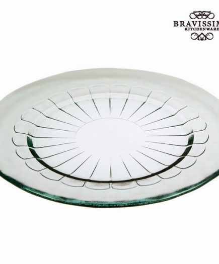 xekios Assiette Plate en Verre Recyclé Transparent - Collection Pure Crystal Kitchen by Bravissima Kitchen
