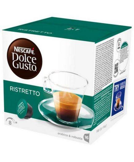 xekios Capsules de café avec étui Nescafé Dolce Gusto 41640 Espresso Ristretto (48 uds)