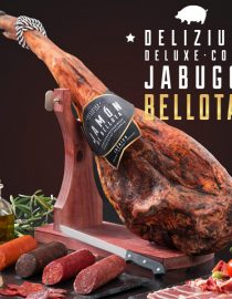 xekios Lot de Jambon + Chorizo + Saucisson + Soubressade + Boudin + Support à Jambon Gourmet + Accessoires