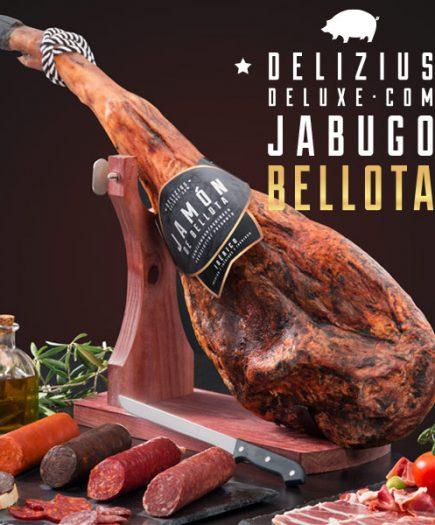 xekios Lot de Jambon + Chorizo + Saucisson + Soubressade + Boudin + Support à Jambon Élégance + Couteau