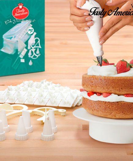 xekios Kit de Décoration de Gâteaux Tasty American (100 pièces)