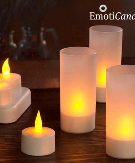 xekios Bougies LED rechargeables EmotiCandle (pack de 6)