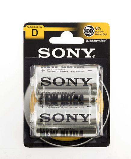xekios Piles Salines Ultra Sony D R20 d'1,5V (pack de 2)