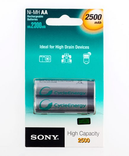 xekios Piles rechargeables Sony Ni-MH AA 2500 mA 1,2V (pack de 2)