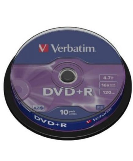 xekios DVD+R Verbatim 43498 4.7 GB 16x 10 pcs