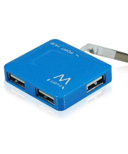 xekios Mini Hub 4 Ports Ewent EW1126 USB 2.0 Bleu