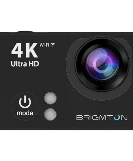 xekios Caméra de sport BRIGMTON BSC-9HD4K HD 4K 170º 25fps Noir