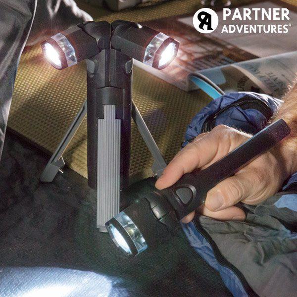 xekios Lampe de poche LED 3-en-1 avec trépied Total Torch