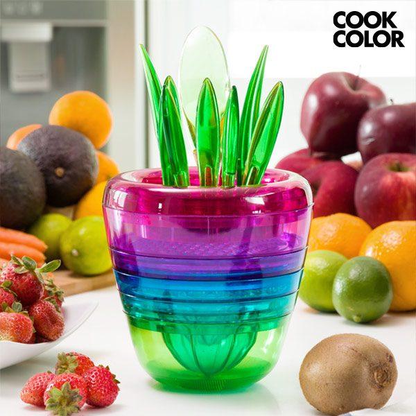 xekios Ustensiles de Cuisine Empilables Multi Tool Fruit Cook Color