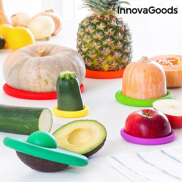 xekios Set de Couvercles en Silicone pour Aliments InnovaGoods (6 Pièces)