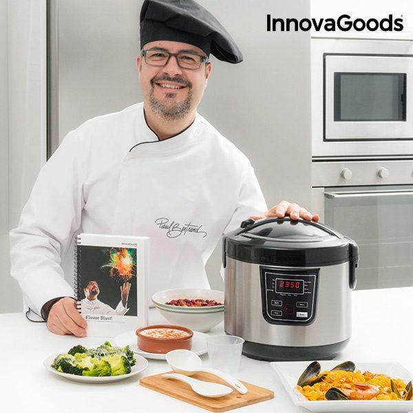 xekios Robot de Cuisine avec Livre de Recettes Smart InnovaGoods 4 L 800W Noir Acier