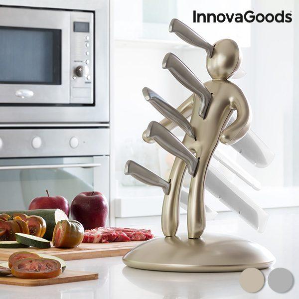 xekios Service de Couteaux avec Porte-Couteaux Voodoo Premium InnovaGoods (6 pièces)