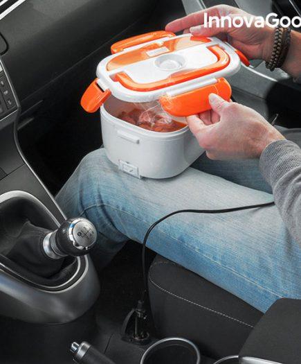 xekios Boîte Déjeuner Électrique pour Voitures InnovaGoods 40W 12 V Blanche Orange