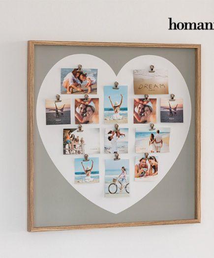 xekios Cadre Porte-Photos Heart avec Pinces Homania (13 photos)