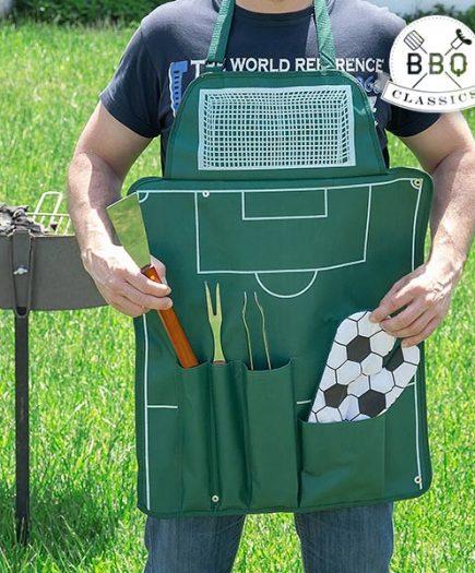 xekios Tablier de Football avec Ustensiles pour Barbecue BBQ Classics