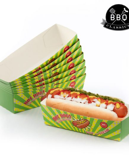 xekios Ensemble de boîtes pour Hot-Dogs BBQ Classics (Pack de 8)