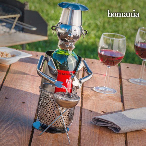 xekios Porte-bouteille en Métal Chef de Barbecue Homania