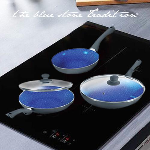 xekios Poêles Revêtement Pierre Blue Stone Pan (5 Pièces)