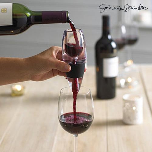 xekios Aérateur de Vin avec Socle Antigoutte Summum Sommelier
