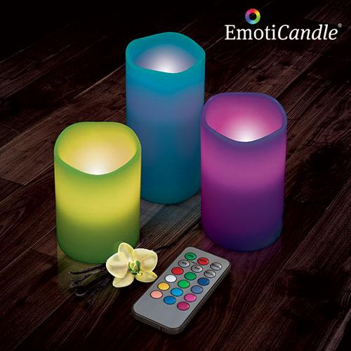 xekios Bougies LED EmotiCandle (pack de 3)