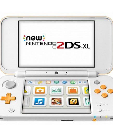 xekios Nintendo New 2DS XL Sony 223593 4 GB microSDHC Blanc Orange