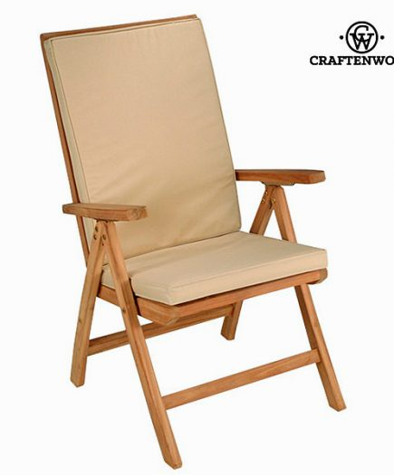 xekios Chaise en teck naturel inclinable by Craftenwood