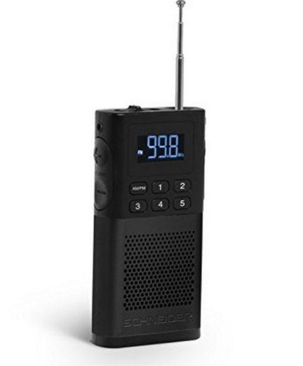 xekios Radio Transistor SCHNEIDER PICCOLO AM/FM LED Noir