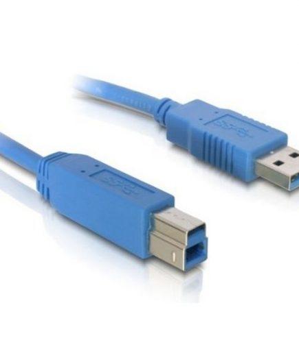 xekios Câble USB A vers USB B DELOCK 82582 5 m Mâle vers Mâle Bleu