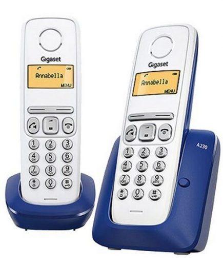 xekios Téléphone Sans Fil Gigaset A230 Duo Bleu Blanc