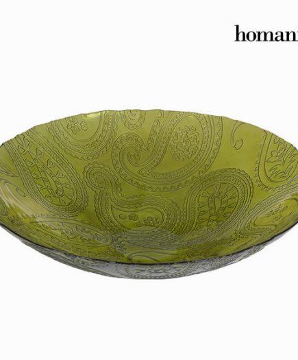 xekios Centre de Table Vert (39 x 10 cm) - Crystal Colours Kitchen Collection by Homania