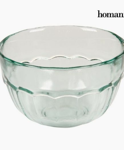 xekios Bol en Verre Recyclé Petit Transparent - Collection Pure Crystal Kitchen by Homania