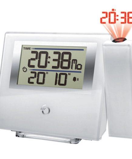xekios Radio réveil avec projecteur LCD Oregon Scientific RM-368-P LCD Blanche