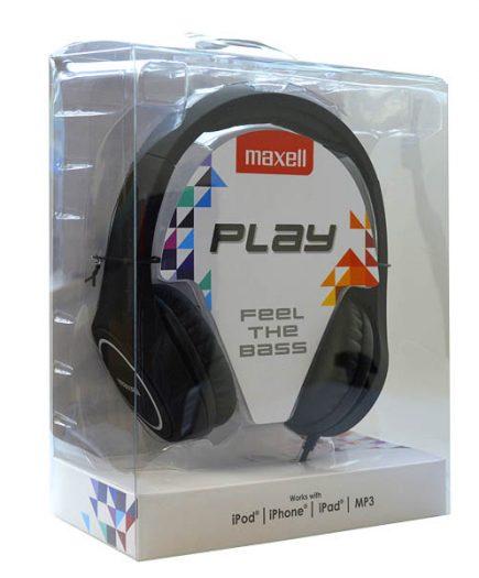 xekios Casque Maxell Play MXH-HP500 Noir Serre-tête