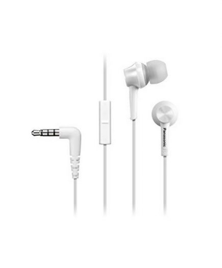 xekios Casques avec Microphone Panasonic RP-TCM105E in-ear Blanc