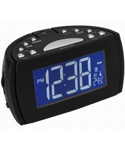 xekios Radio réveil avec projecteur LCD Denver Electronics 224810 Noir