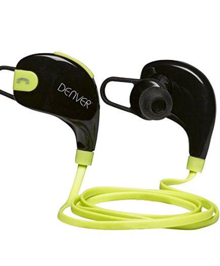xekios Casques Bluetooth de Sport Denver Electronics BTE-100GREEN Noir Vert