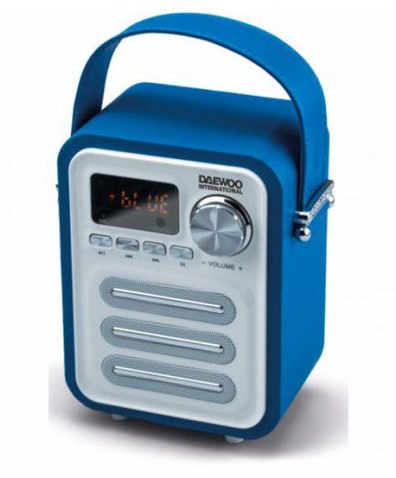 xekios Haut-parleurs bluetooth portables Daewoo DBT07BL Radio FM 5W Bleu