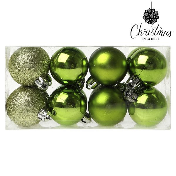 xekios Boules de Noël Christmas Planet 6479 4 cm (16 uds) Vert