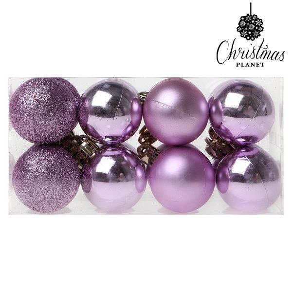 xekios Boules de Noël Christmas Planet 6721 4 cm (16 uds) Violet