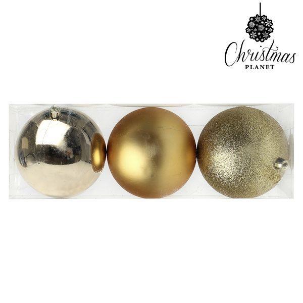 xekios Boules de Noël Christmas Planet 7193 10 cm (3 uds) Doré