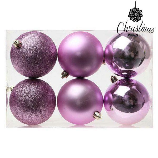 xekios Boules de Noël Christmas Planet 8008 8 cm (6 uds) Violet