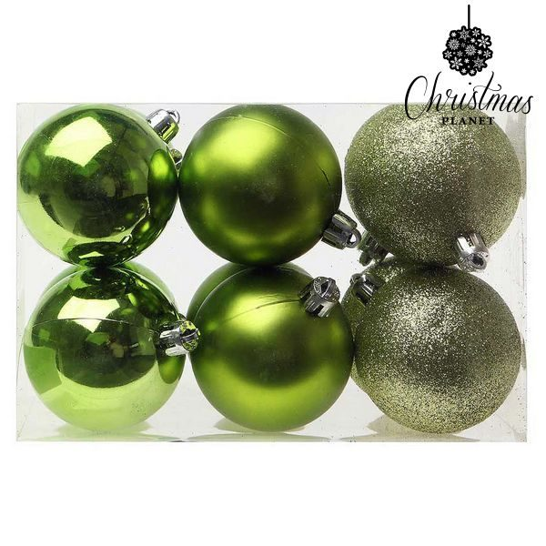 xekios Boules de Noël Christmas Planet 8213 6 cm (12 uds) Vert