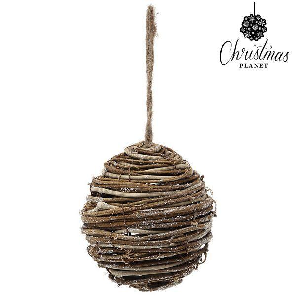 xekios Boule de Noël Christmas Planet 3949 Bois Marron