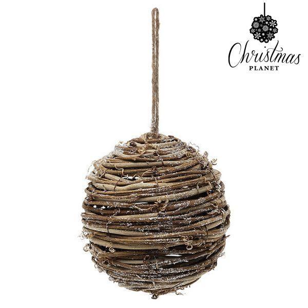 xekios Boules de Noël Christmas Planet 4502 14 cm Bois Marron