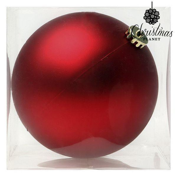 xekios Boule de Noël Christmas Planet 8828 15 cm Verre Rouge