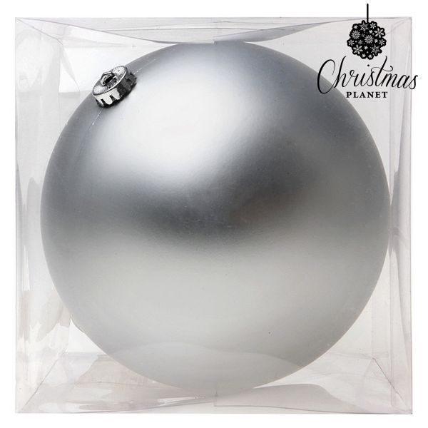 xekios Boule de Noël Christmas Planet 8835 15 cm Verre Argenté