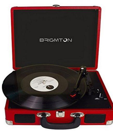 xekios Tourne-disques BRIGMTON BTC-404 2 x 1W Rouge