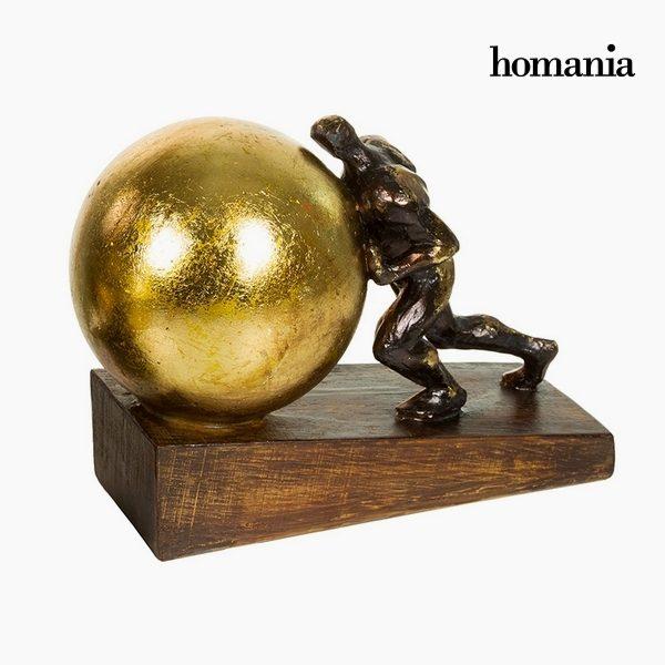 xekios Figurine Décorative Résine Or (23 x 13 x 17 cm) by Homania